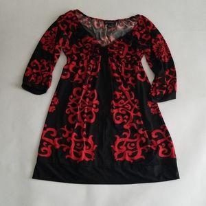 INC International Concepts Black Red Dress L